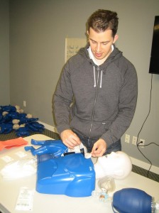 First Aid and CPR Training course with St Mark James