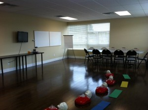 CPR and first aid training room