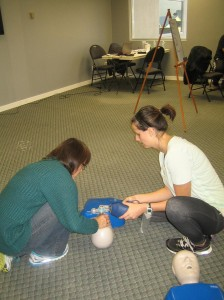 Artificial respiration - CPR - two persons