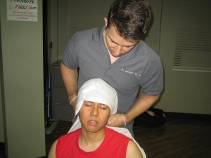Applying Bandages for Head Injuries